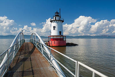 Tarrytown Lighthouse Hudson River New York Poster by George Oze