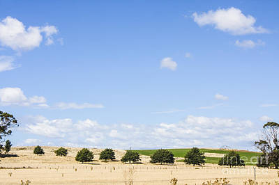Tasmanian Countryside Landscape With Sky Copyspace Poster by Jorgo Photography - Wall Art Gallery