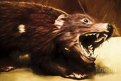 Tasmanian Devil Digital Painting Poster by Jorgo Photography - Wall Art Gallery