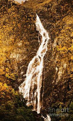 Tasmanian Waterfall Landscape Poster
