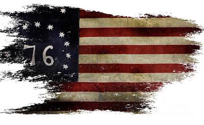 Tattered Bennington Flag Poster by Jon Neidert