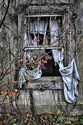 Tattered Curtain Fall '09 No.2 Poster by Sari Sauls