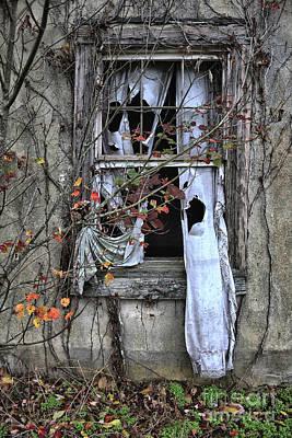 Tattered Curtain Fall '09 No.3 Poster by Sari Sauls