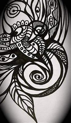 Poster featuring the digital art Tattoo by Erika Swartzkopf