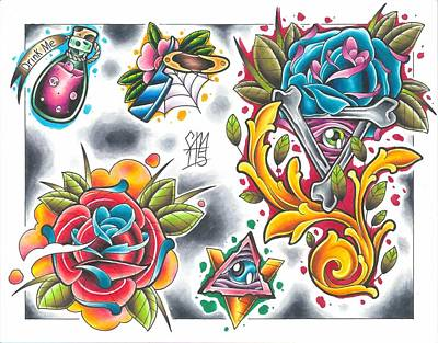 Tattoo Flash - 10 Of 15 Poster