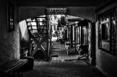 Tattoos And Body Piercing In Black And White Poster by Greg Mimbs