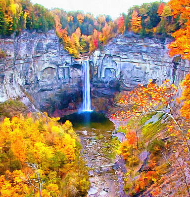 Taughannock Falls Poster by Anthony Caruso