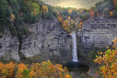 Taughannock Falls In Color Poster
