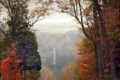 Taughannock In The Mist Poster by Jessica Jenney