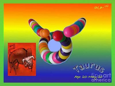 Poster featuring the painting Taurus by The Art of Alice Terrill