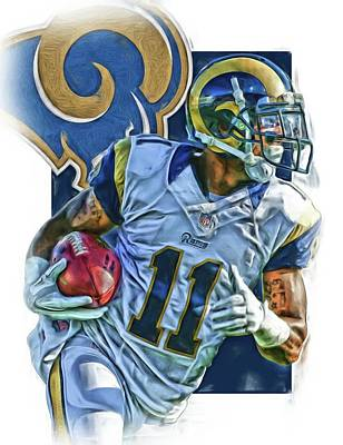 Tavon Austin Los Angeles Rams Oil Art 2 Poster by Joe Hamilton