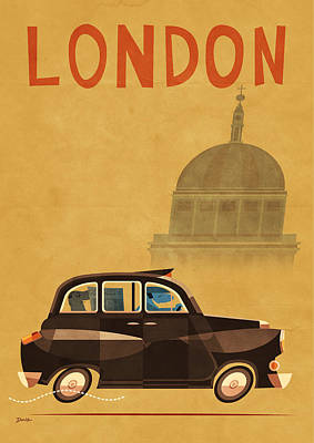 Taxi Poster by Daviz Industries