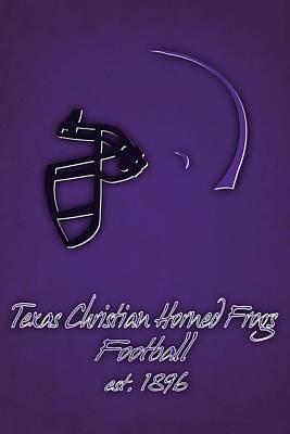 Tcu Horned Frogs Helmet Poster