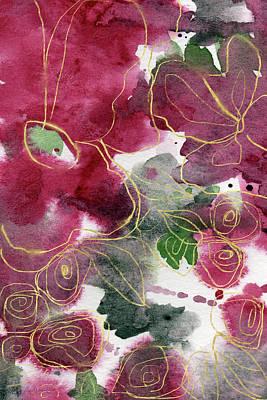 Tea Cup Roses- Art By Linda Woods Poster
