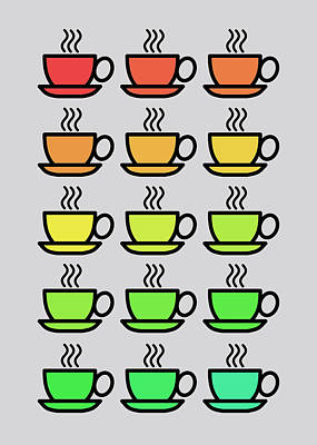 Tea Cups Poster by Mark Rogan