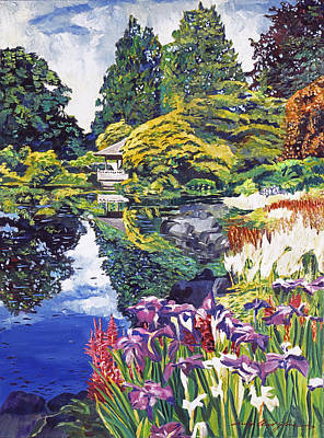 Tea House Lake Poster by David Lloyd Glover