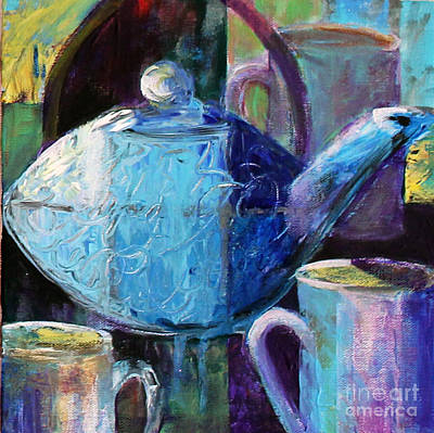 Poster featuring the photograph Tea With Friends by Priti Lathia