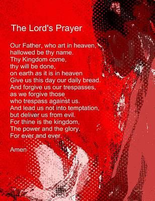 Teach Me How To Pray Poster by Fania Simon