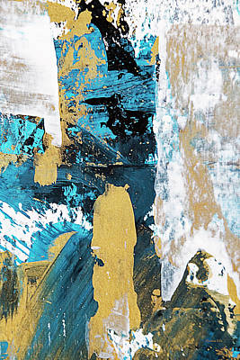 Poster featuring the painting Teal Abstract by Christina Rollo