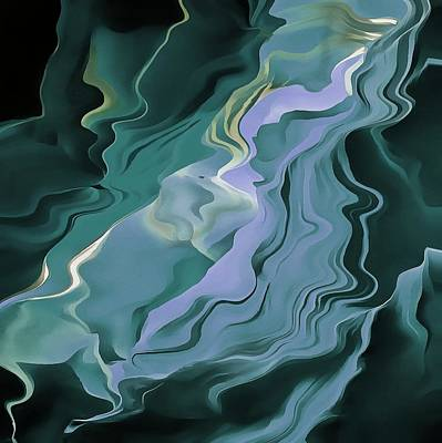Teal Turbulence Poster