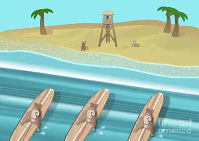 Team Pugs - Surfing Team Poster