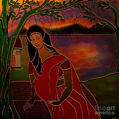 Tears Of Tamasa Poster by Latha Gokuldas Panicker