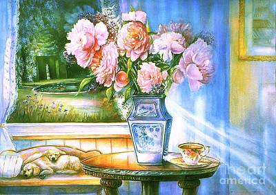 Teatime And Dreams Poster by Patricia Schneider Mitchell