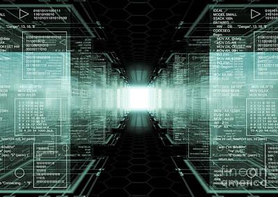 Tech Cubes Poster by Caio Caldas