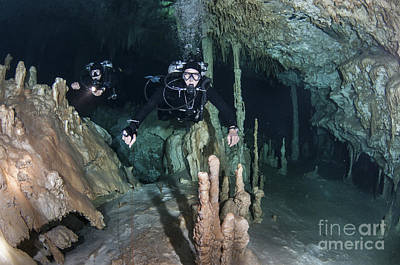 Technical Divers In Dreamgate Cave Poster