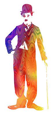 Technicolor Charlie Chaplin Poster