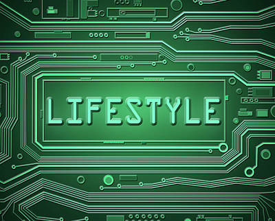 Technology Lifestyle Concept. Poster by Samantha Craddock