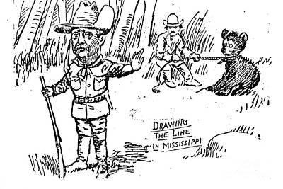 Teddy Bear Cartoon, 1902 Poster by Granger