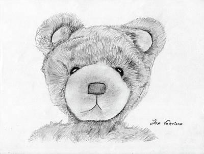 Teddybear Portrait Poster by M Valeriano