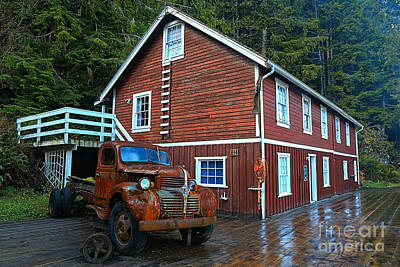 Telegraph Cove Workhorse Poster by Adam Jewell