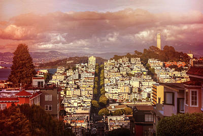 Telegraph Hill San Francisco  Poster by Carol Japp
