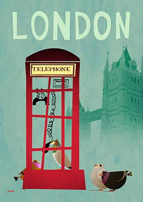 Telephone Box Poster by Daviz Industries