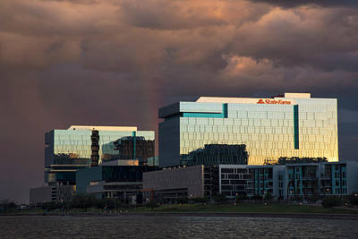 Poster featuring the photograph Tempe Town Lake Skyline by Dave Dilli