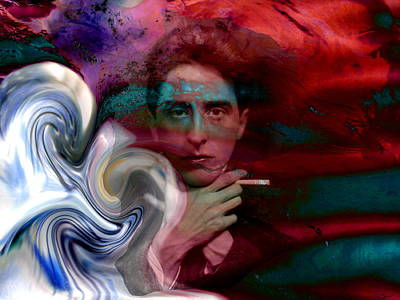 Tempest Of A Poet, Jean Cocteau Poster by Abstract Angel Artist Stephen K