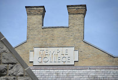 Temple College Poster by Bill Cannon