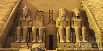 Temple Of Abu Simbel Poster by Corey Ford