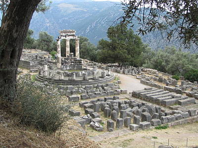 Temple Of Athena At Delphi Poster