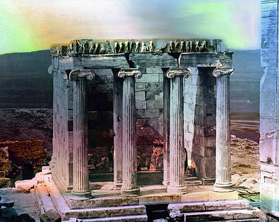 Temple Of Athena Poster by Robert G Kernodle