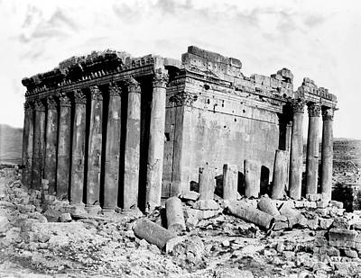 Temple Of Bacchus, Baalbek, 19th Century Poster by Science Source