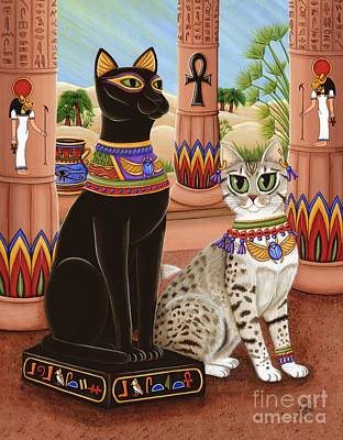 Temple Of Bastet - Bast Goddess Cat Poster