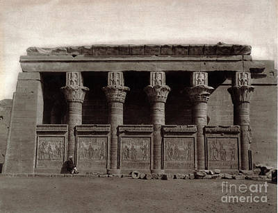 Temple Of Hathor, Early 20th Century Poster