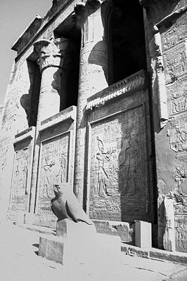Poster featuring the photograph Temple Of Horus by Silvia Bruno