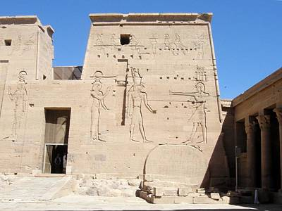 Temple Of Isis At Philae Poster