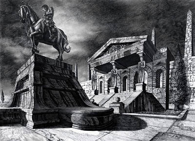 Temple Of Perseus Poster by Curtiss Shaffer