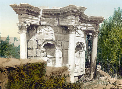 Temple Of Venus, Baalbek, 1890s Poster by Science Source