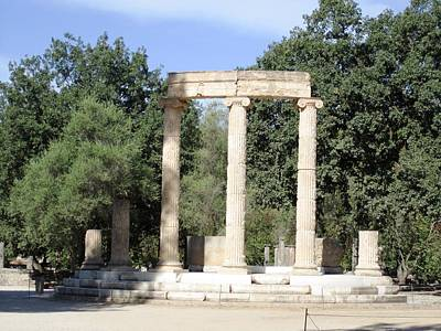 Temple Of Zeus Ancient Ruins In Olympia Greece Poster